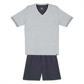 Pijama Lupo Curto Adulto Masculino Gola V - 28000