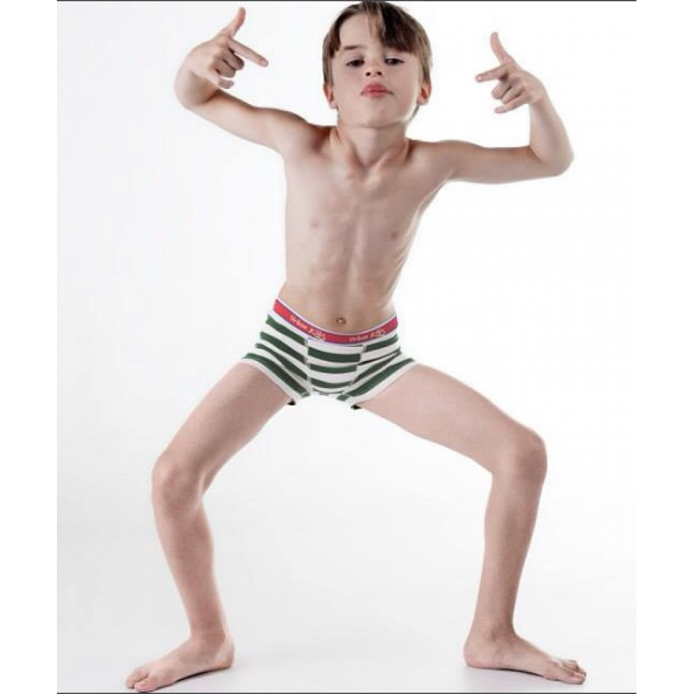 Cueca Boxer Infantil Cotton Listrada Urban Class